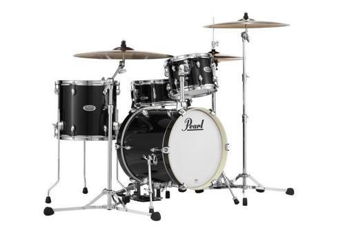 Pearl Midtown MDT764P/C701 4 Piece Drum Shell Pack, Black Gold Sparkle
