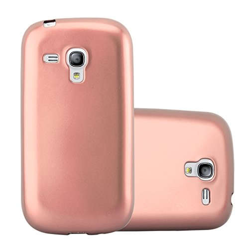 Cadorabo – TPU Ultra Slim Matte Metallic Silicone Cover for > Samsung Galaxy S3 MINI < – Case Protection Bumper Skin in METALLIC-ROSÉ-GOLD (S3 Mini Cases)