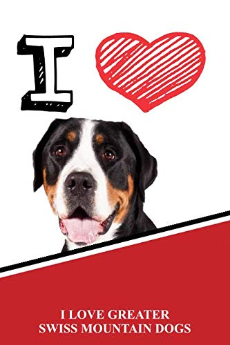 I Love Greater Swiss Mountain Dogs: Blank Cookbook Recipe journal featuring 120 pages ()