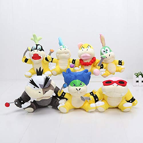 7Pcs/Set Koopalings Plush Toy Rio Bowser Team Larry Roy Lemmy Ludwig Von Morton Koopa Jr. Wendy Stuffed Dolls New Must Haves Gift Sets Toddler Favourite Superhero Party Favors UNbox Yourself by LAJKS