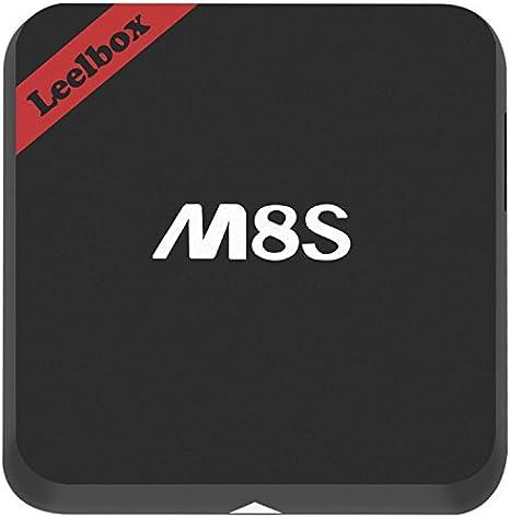 leelbox M8S TV Box Smart TV Box Android TV Box Android 4.4 2 G/8 G Quad Núcleo S812 Kodi preinstalado Banda Dual 2,4 g/5 G Wi-Fi Negro.: Amazon.es: Electrónica