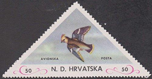 Croatia Bird Triangle Postage Stamp