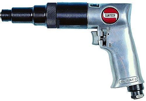 SUNTECH SM-803 1/4″ Air Screwdriver, 800 RPM, Adjustable Clutch, Silver