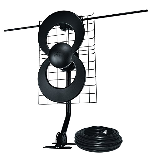 ClearStream 2V Indoor/Outdoor HDTV Antenna with Mount and 30ft Cable - 60 Mile Range