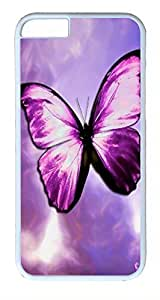 ACESR Butterfly iPhone 6 Hard Shell Case Polycarbonate Plastics Awesome Case for Apple iPhone 6(4.7 inch) White by mcsharks