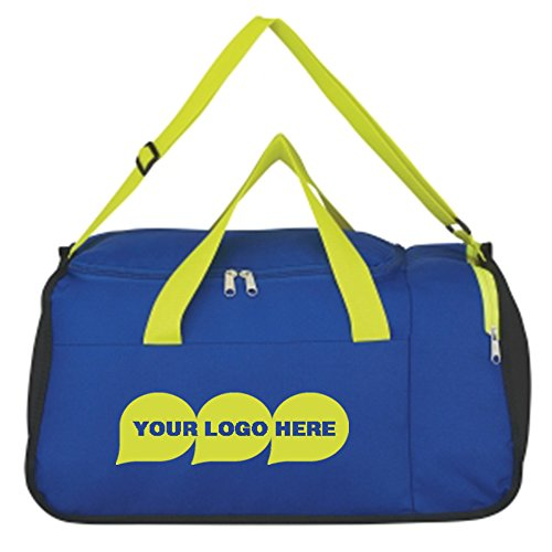 Two Compartment Duffel Bag - 50 Quantity - $6.95 Each - Promotional Product/Bulk with Your Logo/Customized