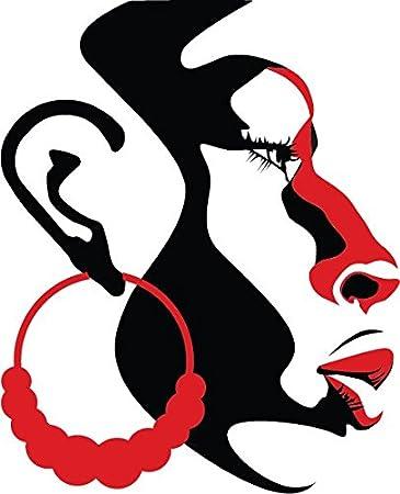 Hermoso Africana Girl Vinilo pared arte grande Decal Sticker