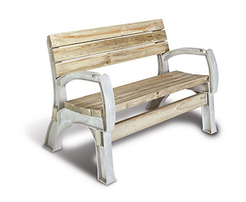 Hopkins 90134ONLMI 2x4basics AnySize Chair or Bench Ends, Sand - Cedar Adirondack Tree Bench