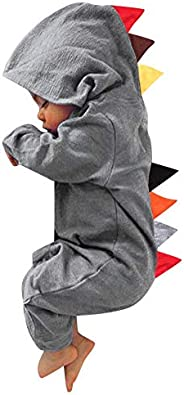 Goddessvan Newborn Infant Baby Boy Girl Dinosaur Hooded Romper Jumpsuit Outfits Clothes