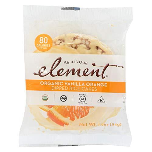 - ELEMENT, Rice Cake, Og2, Van, Orange, Pack of 8, Size 1.2 OZ, (Low Carb Gluten Free Kosher Low Sodium Vegan Wheat Free Yeast Free 95%+ Organic)