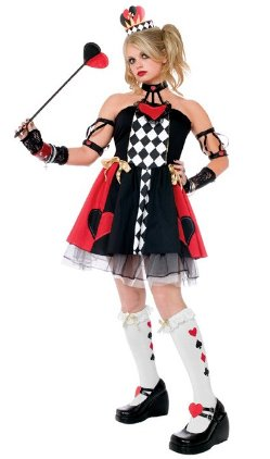 Queen of Hearts - Large (Toddler Queen Of Hearts Halloween Costume)
