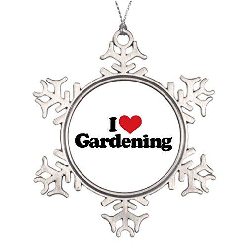 (Tee popo Personalised Christmas Tree Decoration I Heart Gardening I Love Gardening Family Personalized Snowflake Ornaments)