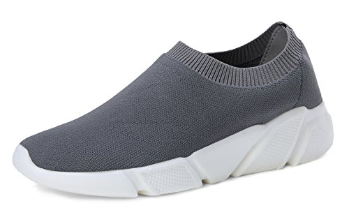 Shoes Low Cut Knitted Grey Fashion Casual Vamp Breathable Sneakers Women's Walking Shoes Sports MEILUO Lightweight wqOH7xzpR