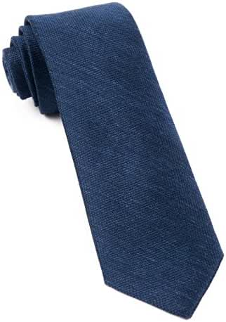 Linen Blend Festival Textured Solid Navy 2.5 Inch Tie