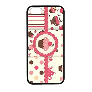 Cake For Teen Girls Case for iPhone 5 5s protective Durable black case