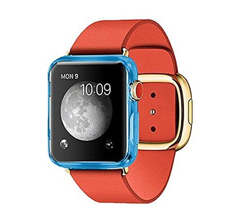 Apple Watch Case, Allmet? [Lake Blue] slim Apple Watch 42mm New design GEL TPU Case**NEW** Soft Flexible Protective Case Cover For Apple Watch 42mm (2015)