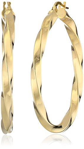 14k Yellow Gold Twisted Hoop Earrings 14k Yellow Gold Twisted Hoop