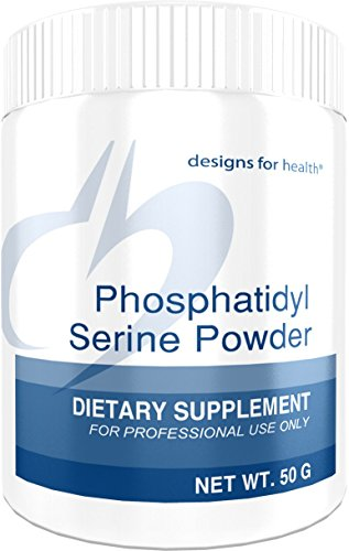 200 Mg Lecithin - Designs for Health - Phosphatidylserine Powder - 200mg Lecithin for Cortisol Balance + Brain Support, 50 Grams