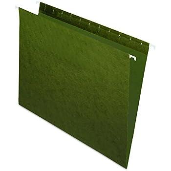 Pendaflex Recycled Hanging Folders, Letter Size, Standard Green, 25/BX (81600)