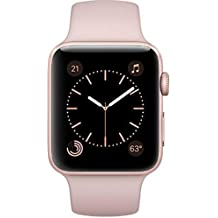 Apple - Apple Watch Series 2 42mm Rose Gold Aluminum Case Pink Sand Sport Band - Rose Gold Aluminum MQ142LL/A (Certified Refurbished)