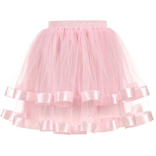 Rose De Jupe Qualit Mini Adultes Jupe Tutu OVERMAL Danser Tutu Ballet Jupe Dentelle Dentelle Courte Haute Femmes Tulle Jupe Jupe PlissE des Gaze AIAqOxB