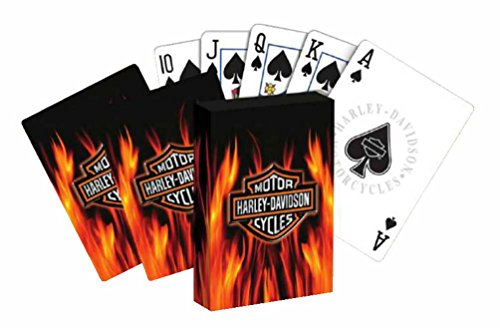 Harley-Davidson Flameing Bar & Shield Standard Playing Cards Deck 610D