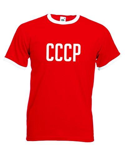 CCCP Retro Football Ringer Camiseta