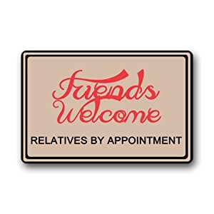 Clean Machine Doormat Friends Welcome RELATIVES BY APPOINTMENT door mat