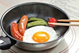 8haowenju Pan,10.4-inch Titanium Alloy Wok, Flat Bottom Non-Stick Wok, White Multi-Purpose Pot (Color : White)