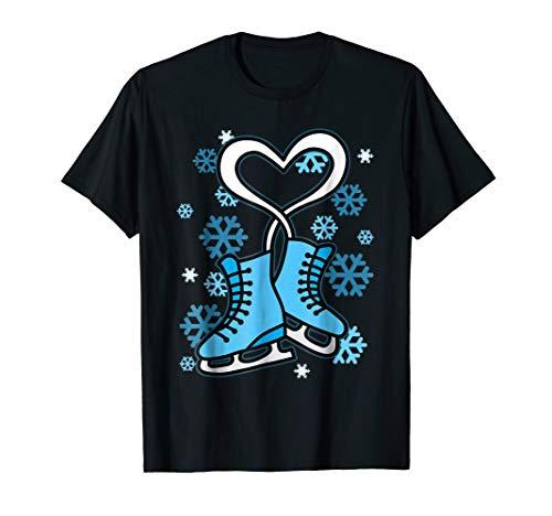 Figure Skating T-Shirt Ice Skater Tshirt Skates Love Tee Gif ()