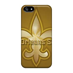 Durable Hard Cell-phone Case For Iphone 5/5s With Customized Trendy New Orleans Saints Pattern SherriFakhry