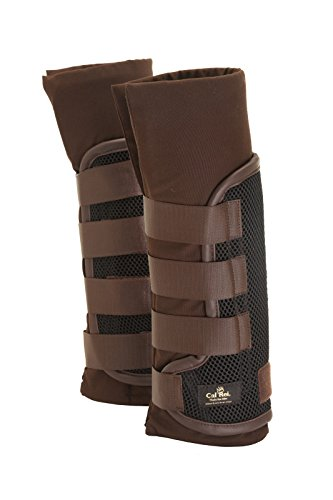 Cal ReiLeg Wrap Stable Bandages - Black with Brown contrast by William Hunter Equestrian
