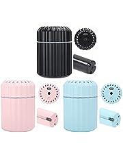 YIHEXUANkeji Mini Luchtbevochtiger Draagbare 200Ml Grote Capaciteit Usb Aangedreven Mute Bevochtiging Voor Thuis Yoga Kantoor Slaapkamer (Zwart)