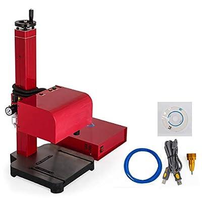 Happybuy Pneumatic Metal Marking Machine 110V Pneumatic Dot Peen Marking Machine for Metal Parts