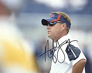 Hugh Freeze Ole Miss Head Coach Sunglasses Signed Autographed 8x10 Photo W/coa - Autographed College Photos