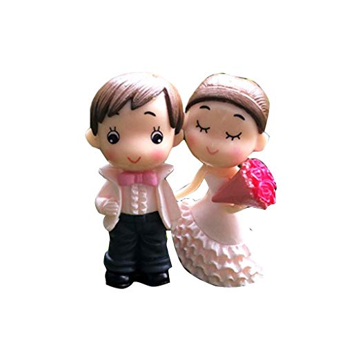 - Bride and Groom Wedding Doll Cartoon PVC Couple Figurines Miniatures Cake Decoration DIY Craft Home Ornament