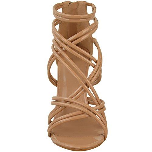 FESTA SCARPE con donna alto BALLO sandali Celebrit tacco cinturino da NUOVO OCCASIONI x81HFwn7q