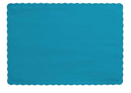 (Creative Converting (897121B) 50 Count Touch of Color Paper Placemats, Turquoise - 1203867)