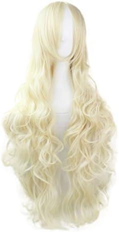 80cm レディース ウィッグ フルウィッグ ロング カール ウェーブ 巻き髪 前髪斜め ゆるふわ かつら 原宿風 自然な質感