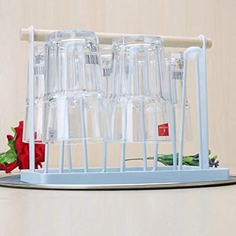 Oficina Genlesh Soporte Antideslizante para Tazas y Vasos con Mango de Madera para Cocina hogar