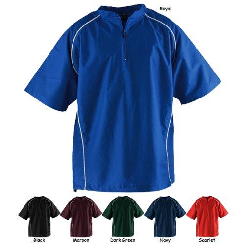 Rawlings Men's Nscj Short Sleeve Batting Cage Jacket(Dark Green, X-Large)