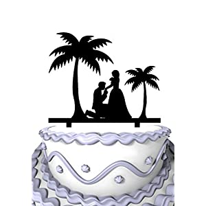 4152r7Dh1EL._SS300_ Beach Wedding Cake Toppers & Nautical Cake Toppers