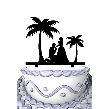 4152r7Dh1EL._SS450_ The Best Palm Tree Wedding Cake Toppers