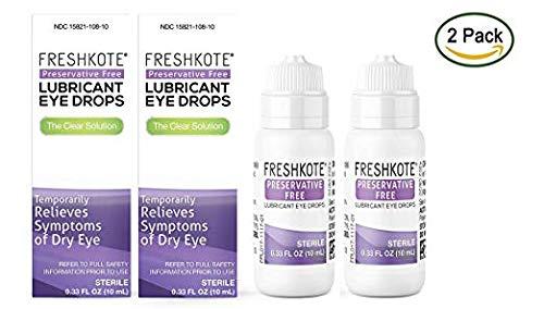 FRESHKOTE Preservative-Free Lubricant Eye Drops - .33 oz (Pack of 2)