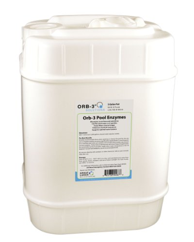 (Orb-3 F839-000-5G Pool Enzymes for Maintenance, 5-Gallon Pail )
