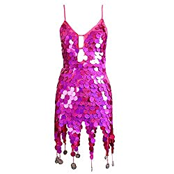 Fish Scale Sequins Modern Dance Costumes