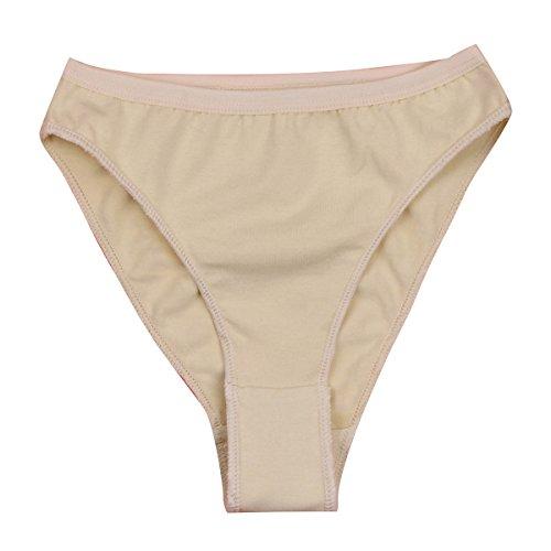 - ranrann Girls Ballet Dancewear Seamless Gymnastic Briefs High Leg Cut Professional Underwear Shorts Nude 5-6