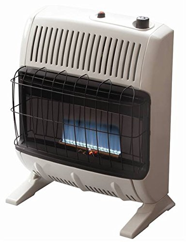 Convection Gas Heater - Mr. Heater Corporation Vent Free Flame Natural Gas Heater, 20k BTU, Blue