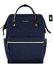 KROSER Laptop Backpack Stylish School Computer Backpack 15.6 Inch Doctor Bag with USB Port Water Repellent College Casual Daypack Travel Business Work Bag for Men/Women-Dark Blue