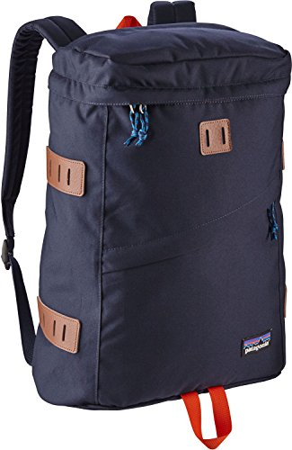 Patagonia Toromiro Top Load Backpack Navy Blue Red Laptop Day Pack 22L